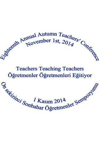 Sonbahar Öğretmenler 2014