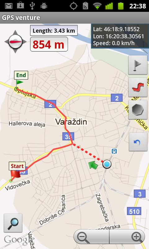 GPS venture - screenshot