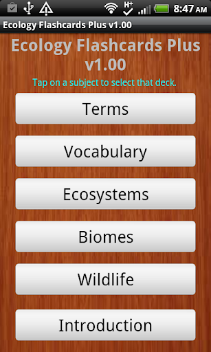 Ecology Flashcards Plus