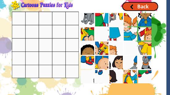 Cartoon puzzles vir kinders - screenshot thumbnail