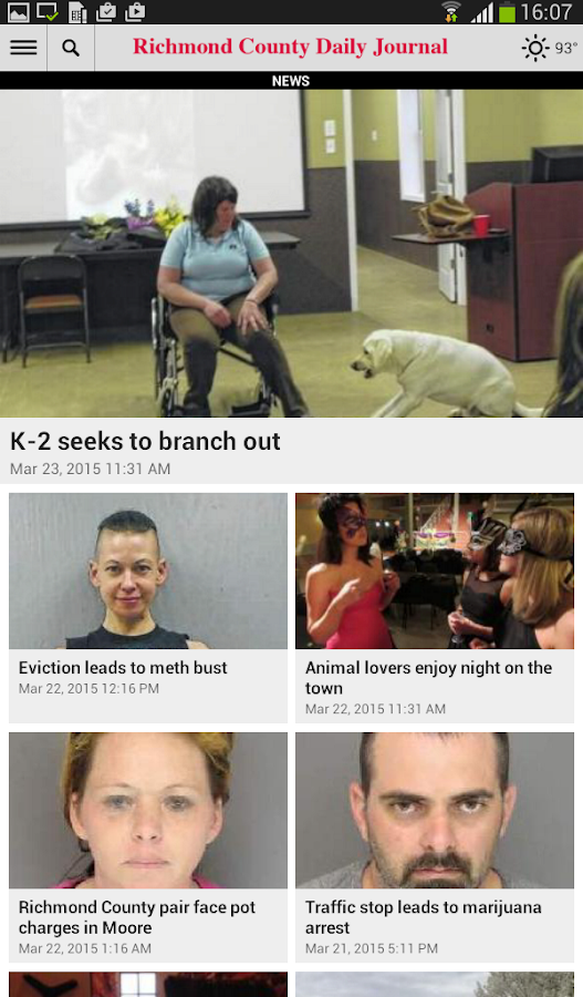 Richmond County Daily Journal- screenshot