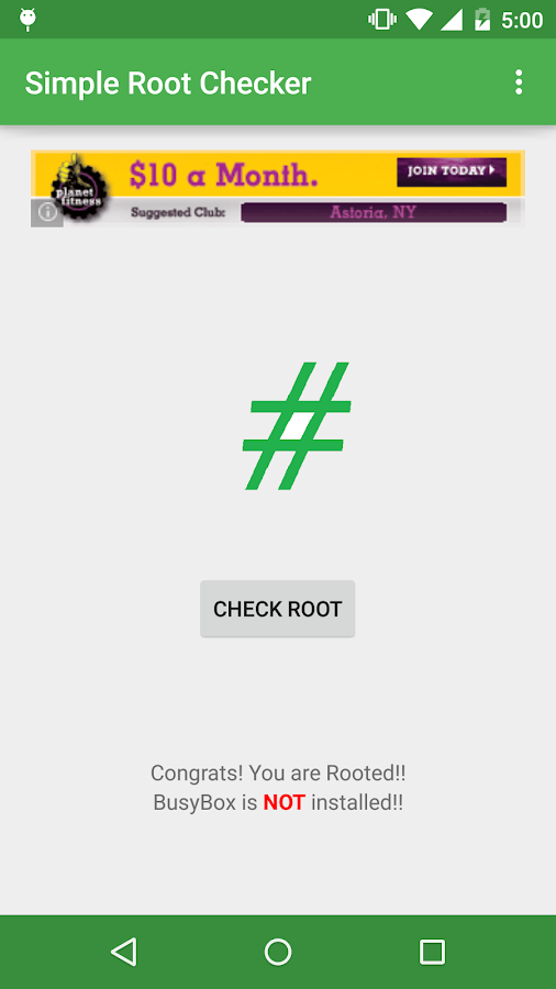 Simple Root Checker- screenshot