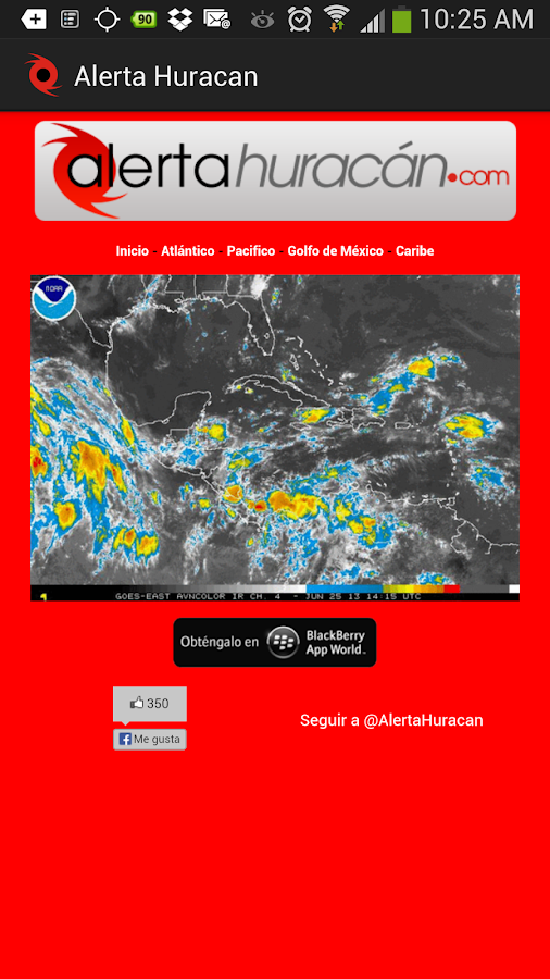 Hurricane Alert- screenshot