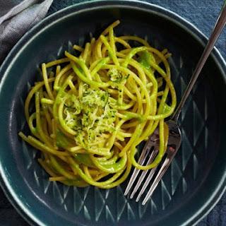 Zucchini-Glazed Spaghetti.
