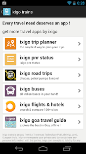 ixigo indian rail trains irctc - screenshot thumbnail