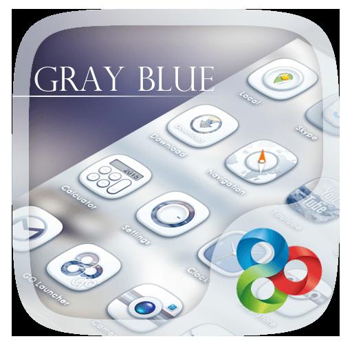 Gray Blue GO Launcher Theme