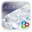 Gray Blue GO Launcher Theme icon