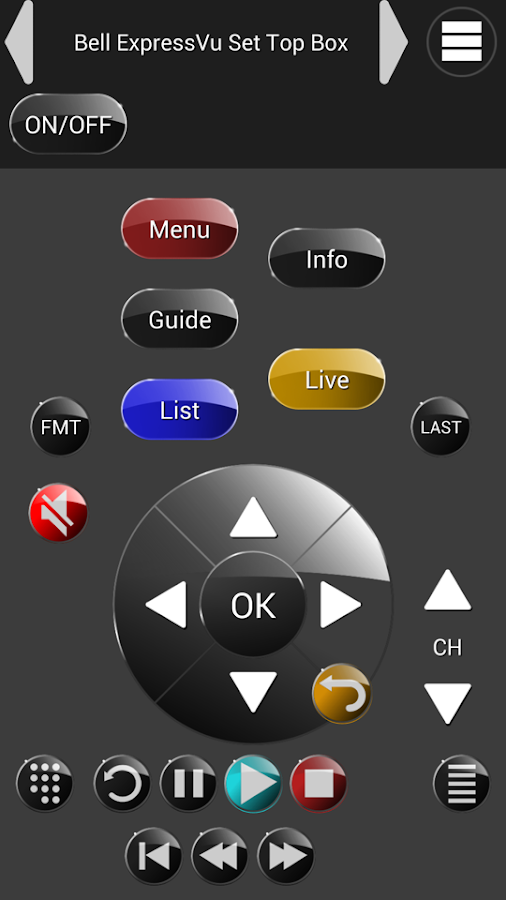 ZappIR TV Remote PRO- screenshot