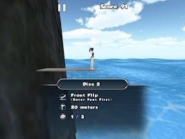 Screenshot of Cliff Diving 3D Free