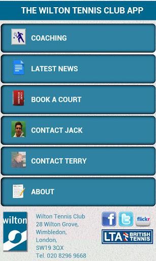Wilton Tennis Club App