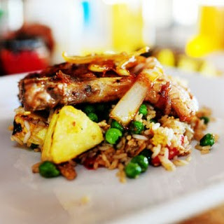 Pork Chops with Pineapple Fried Rice.