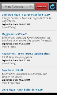 Fast Food Deals and Coupons - screenshot thumbnail