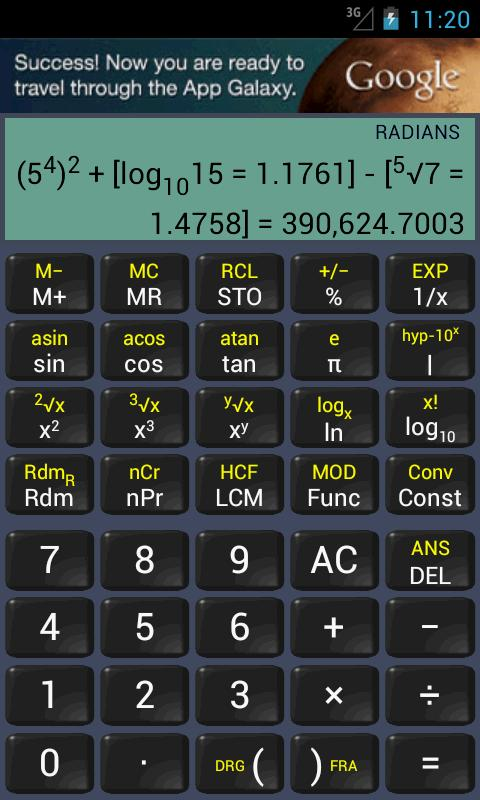 Scientific Calculator - screenshot