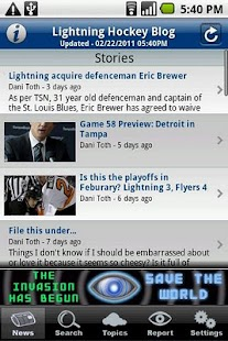 Lightning Hockey Blog - screenshot thumbnail