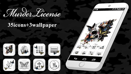 MURDER LICENCE-White Icon + WP