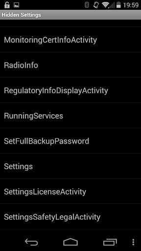 Hidden Android Settings 0.1 screenshots 2