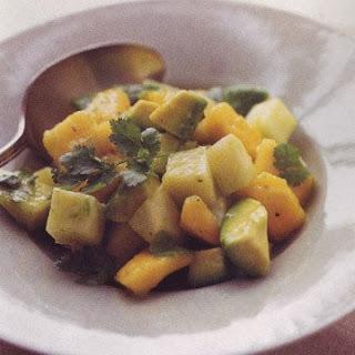Papaya, Jicama, and Avocado Salad