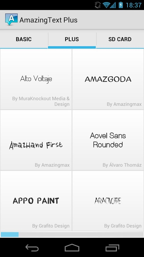 AmazingText Fonts Pack 1- screenshot