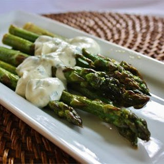 Grilled Asparagus with Cilantro Lemon Butter