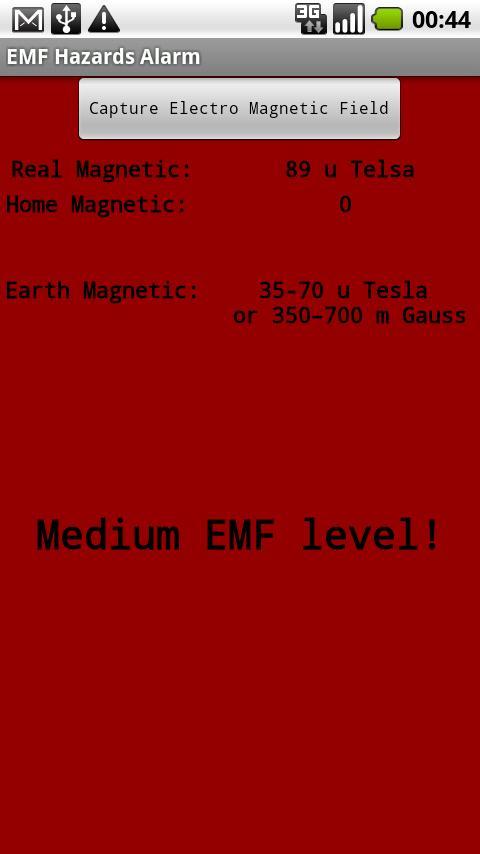 EMF Hazards Detector- screenshot