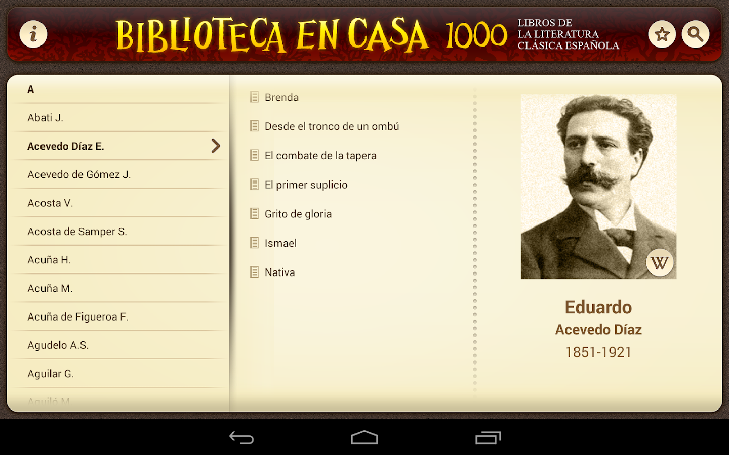 Biblioteca en Casa- screenshot