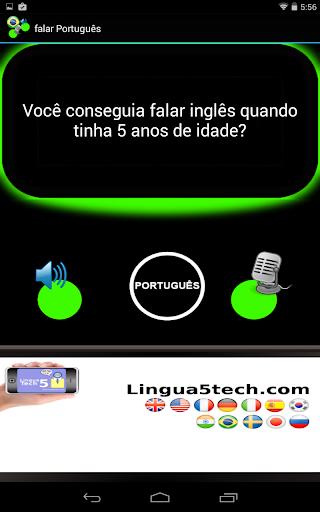 falar Português