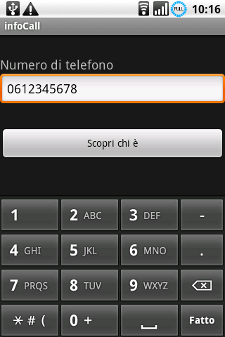 infoCall - screenshot