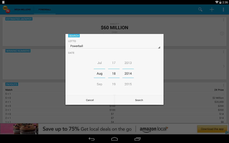 Mega Millions & Powerball - screenshot