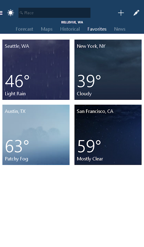 MSN Weather - Forecast & Maps screenshots