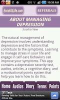Screenshot of Depression CBT Self-Help Guide