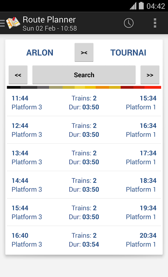 BeTrains - SNCB Belgium - screenshot
