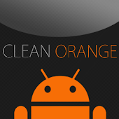 GO SMS Clean Orange Theme