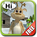 Talking Prancer Reindeer logo