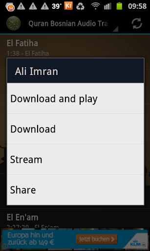 Quran Bosnian Translation MP3 by AMSApps (Google Play