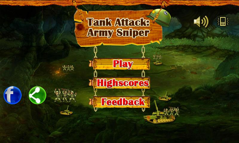 Tank Attack :Army Sniper Game- screenshot