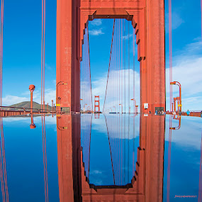 Through the Eye of the Golden Gate by Jamie Valladao - Buildings & Architecture Bridges & Suspended Structures ( golden gate bridge, bay, architecture, bridge, san francisco, span,  )