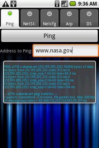 Net Status- screenshot