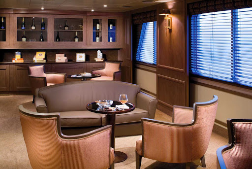 Connoisseur_Corner - The Connoisseur's Corner on board Silver Explorer is the perfect place to sample premium Cognacs and purchase cigars.