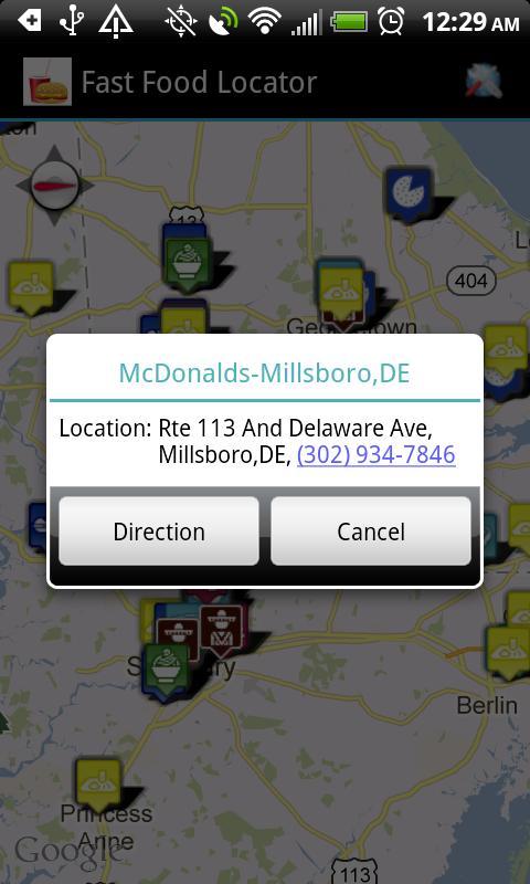 Fast Food Restaurants Locator- screenshot