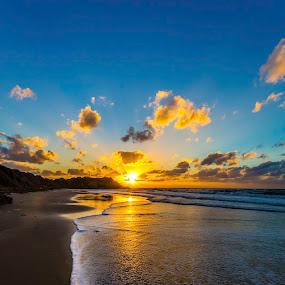 Wavelet by Assi Dvilanski - Landscapes Sunsets & Sunrises ( sunset, wave, sea, beach, israel )