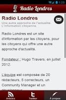 Screenshot of Radio Londres