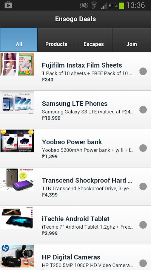 Ensogo Deals - LivingSocial PH - screenshot