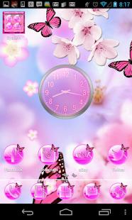 玩個人化App|Launcher Theme Pink Butterfly免費|APP試玩