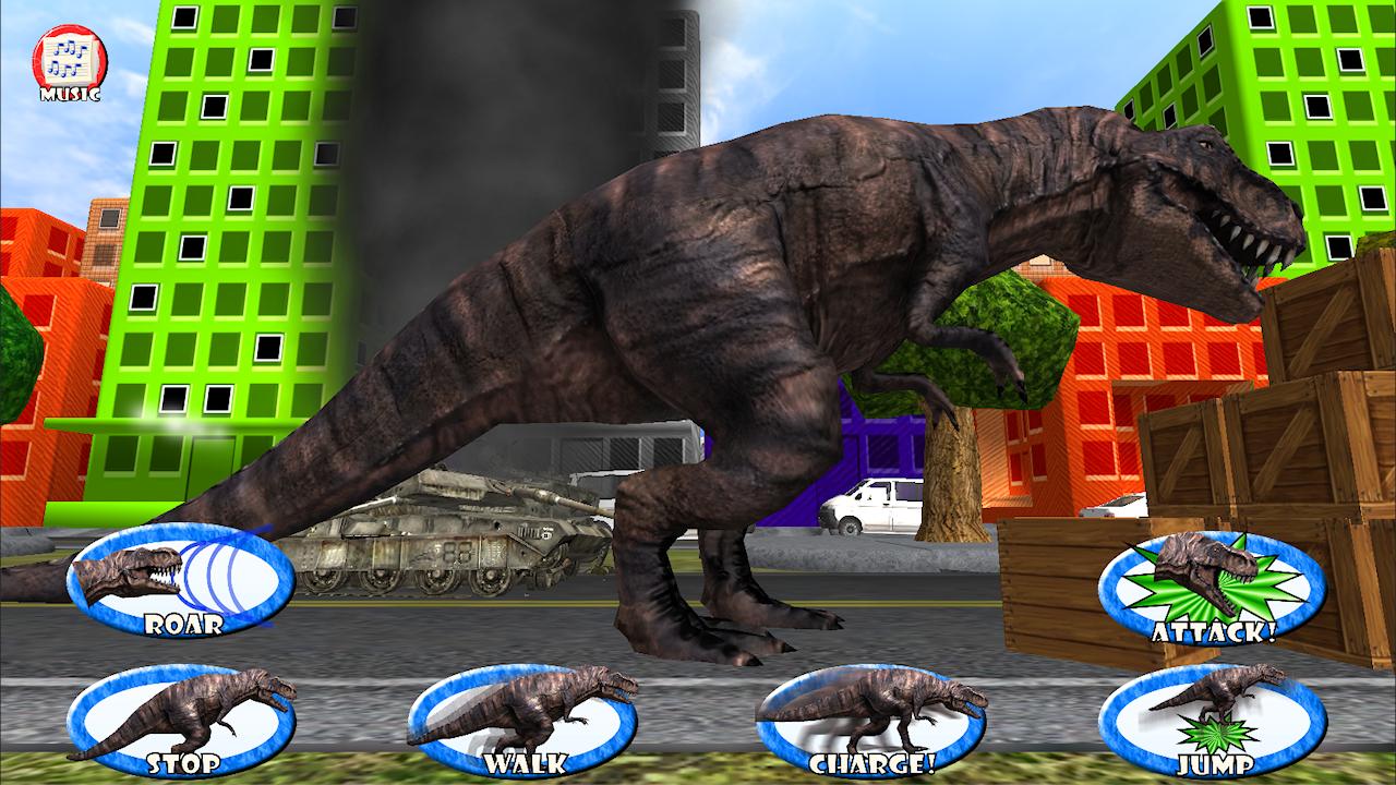 dinosaur roar rampage kids 3d screenshot