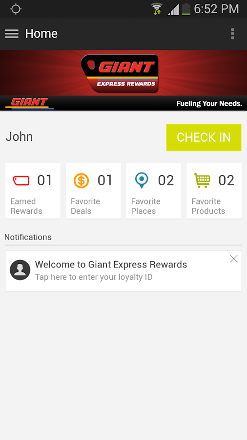 Giant Express Rewards - screenshot