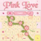 Pink Love Keyboard GO App