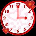 Cute Love Clock Widget icon