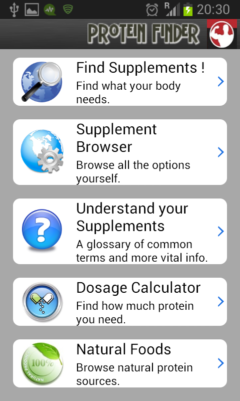 Protein Finder- screenshot