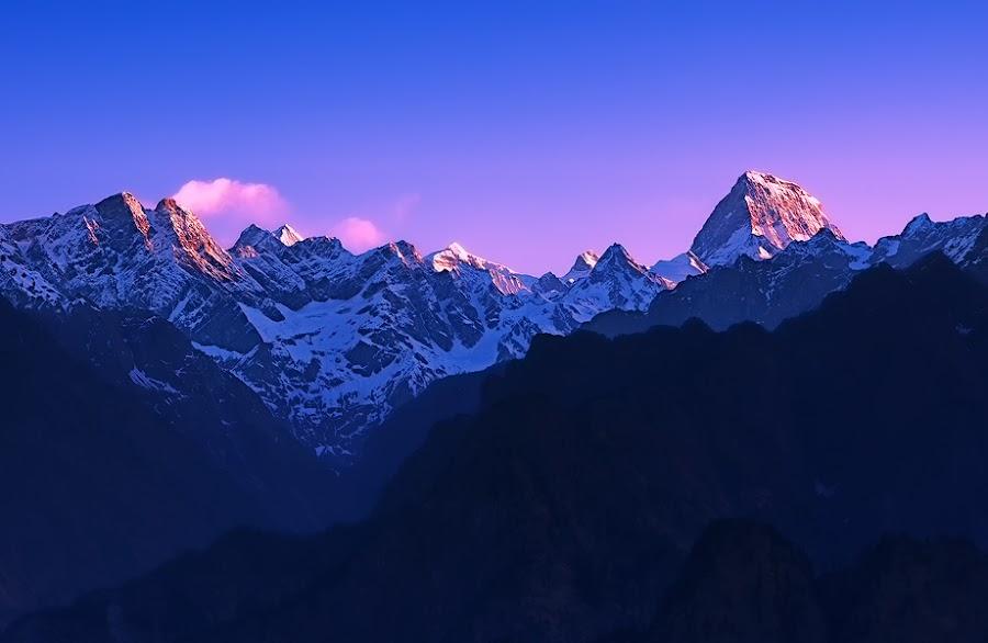 Kamet Peek Himalayan Range by Abhijit Singh - Landscapes Mountains & Hills