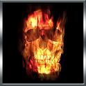 Skull Of Fire Live Wallpaper icon